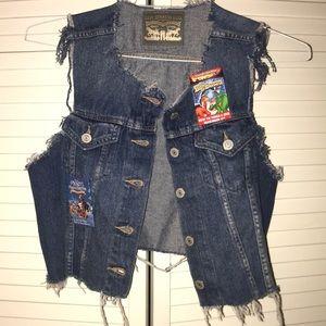 🏹Levi's Vest cropped denim🏹